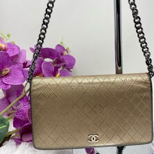 Authentic Preowned Chanel Gold Wallet